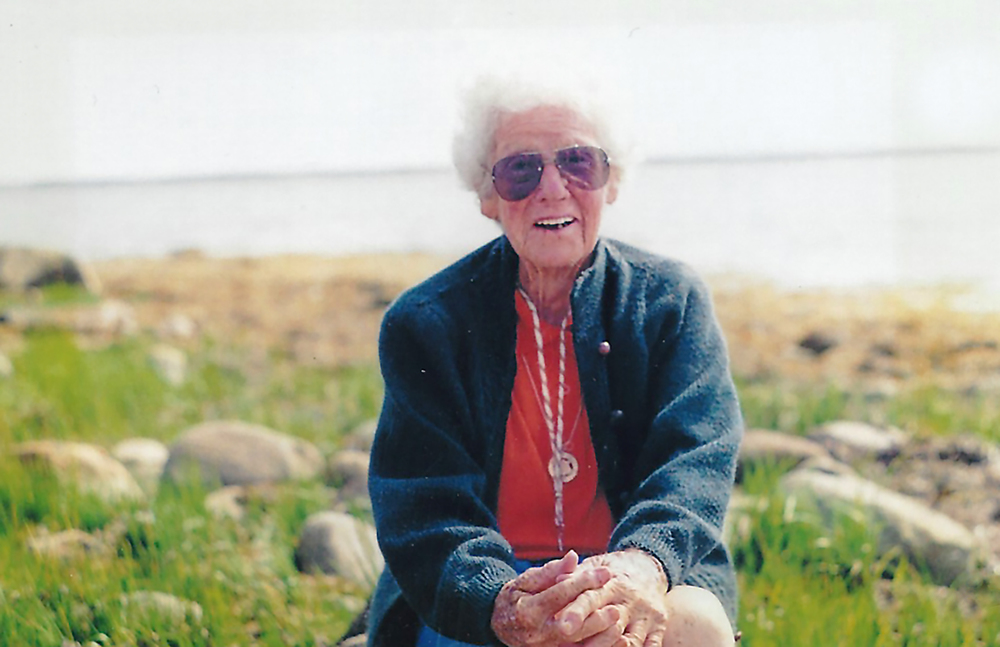 Enid Johnson, who died in 2005, travelled the world but her heart and soul belonged at Sebim, with it's endless sand, scented lupine and beautiful sunsets, each one more perfect than the last.