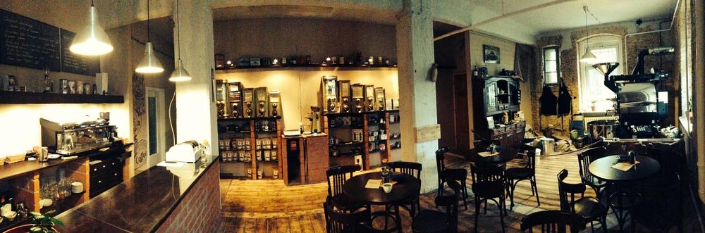 Panorama Kaffeerösterei Büttner in Görlitz