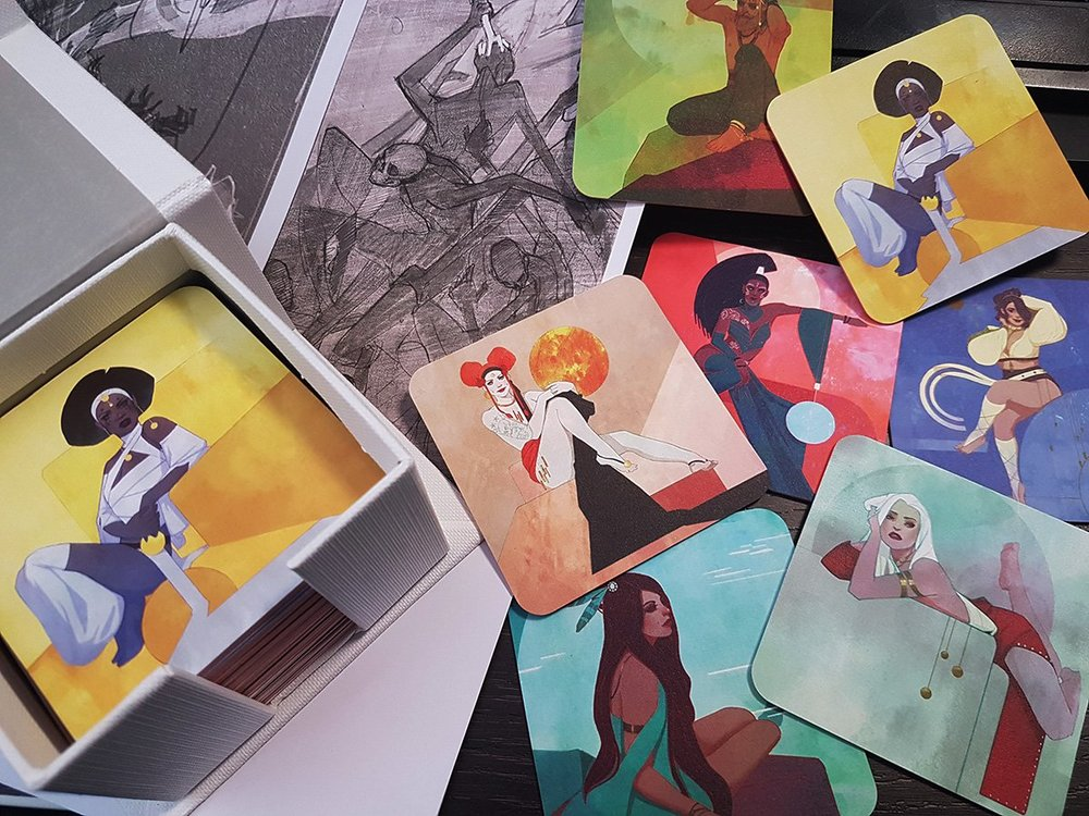 My amazing MOO luxe business cards!
