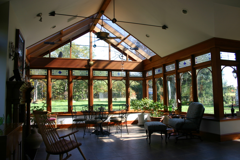 Custom Sunroom with Mahogony Detail