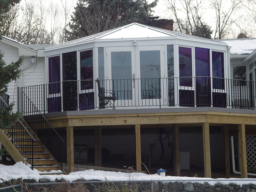 Deck Top Sunroom Enclosure