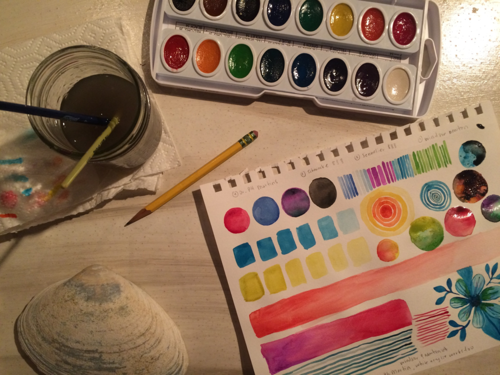 Breaking out my watercolors for the first time since the 90's