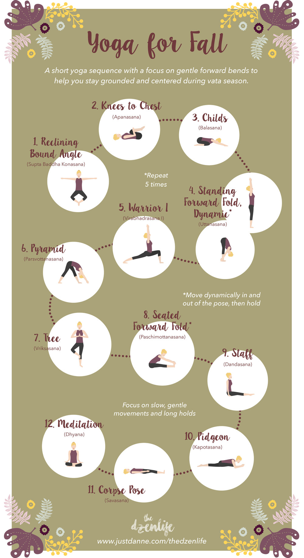 A Short Yoga Sequence for Fall from The DzenLife