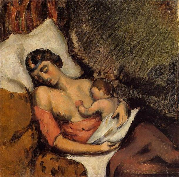 By Paul Cézanne - 1839 -1906 - (Paul cézanne - Hortense Fiquet donnant le sein.) [CC0], via Wikimedia Commons