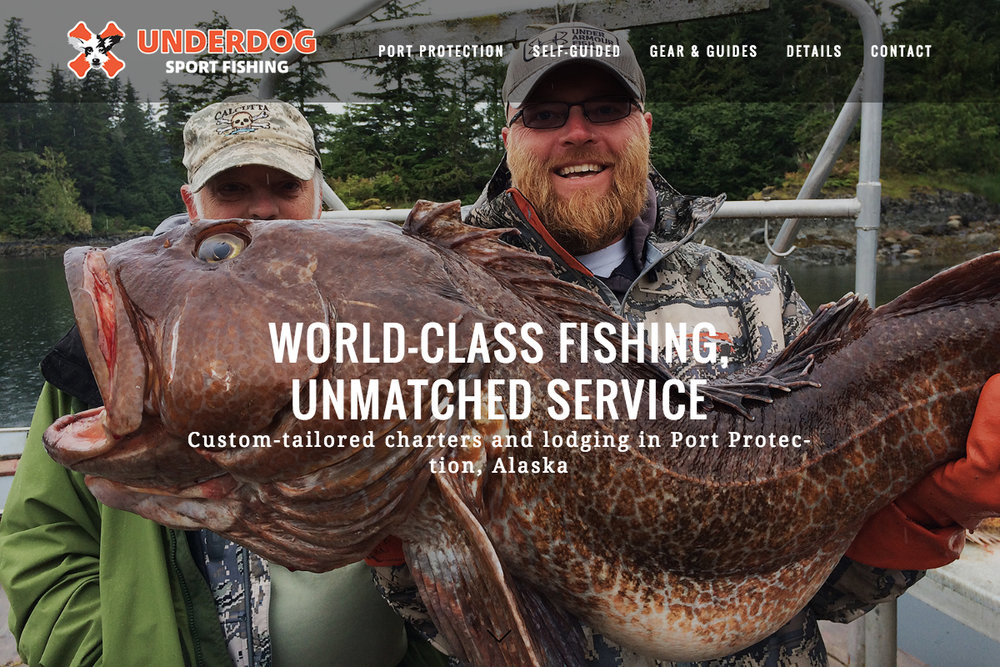 Charter and fishing lodge website design sample