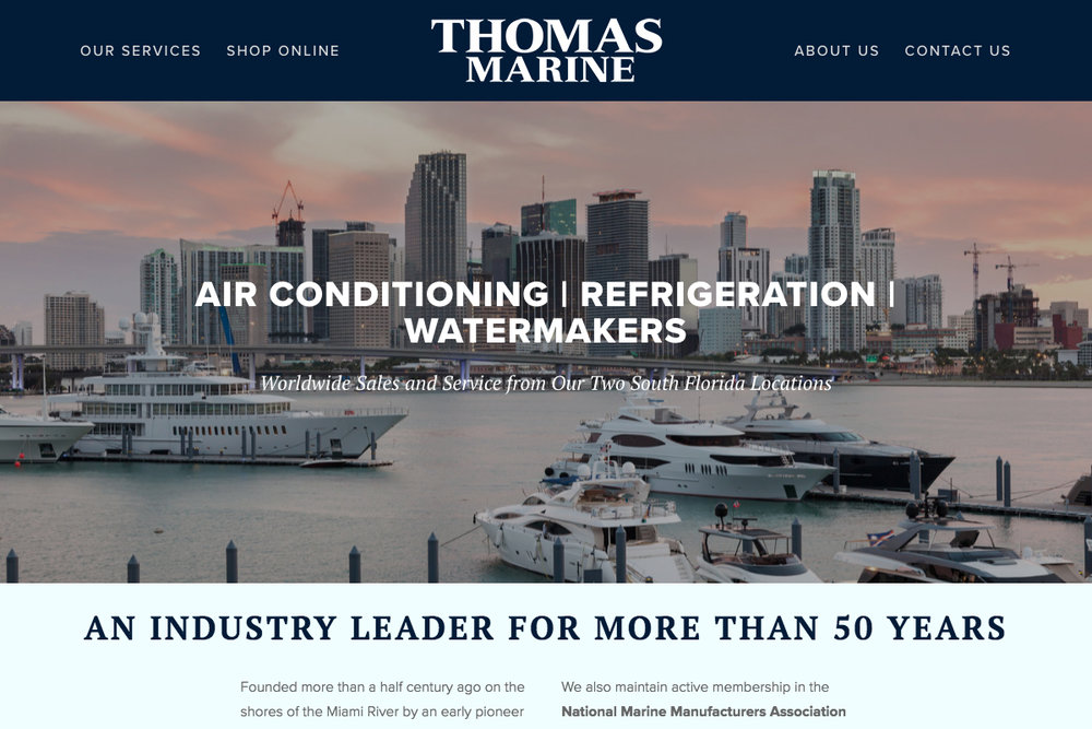 Marine industry website sample 2