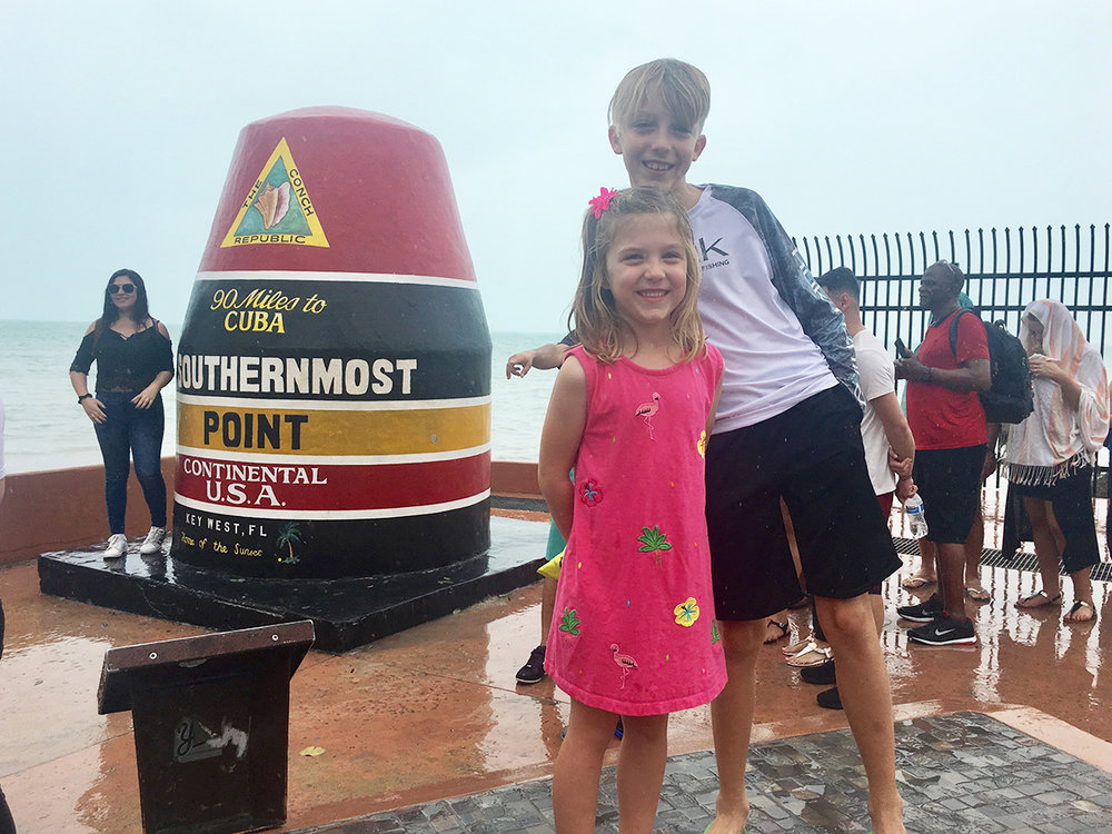 Rainy at the southernmost point