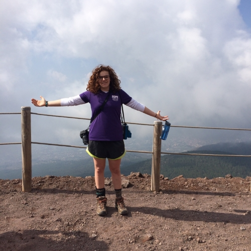 At the top of Mt. Vesuvius, Pompeii, Italy 2015