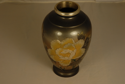 Japanese Bronze Vase With Silver Inlay Mansa Imports