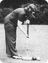 Margaret Emerson playing croquet