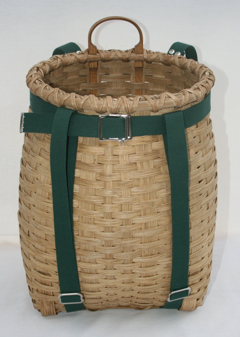 Small Adirondack Pack basket, shown with cotton webbing