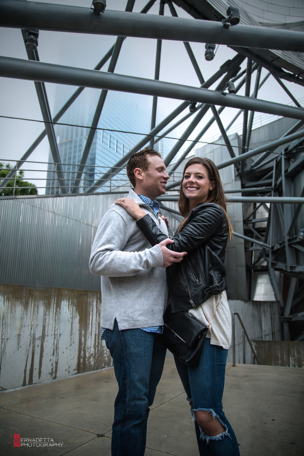 Engagement session at Jay Pritzker Pavilion