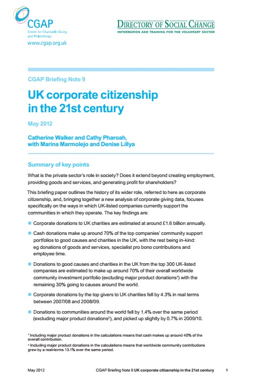 UK corporate citizenship in the 21st century