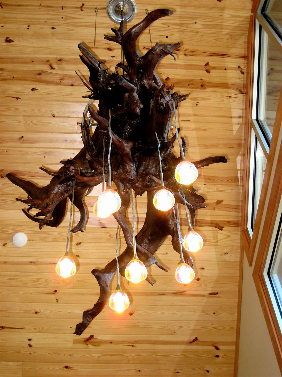 Driftwood Tree Stump & Driftwood Light u2014 Art Barn Studios