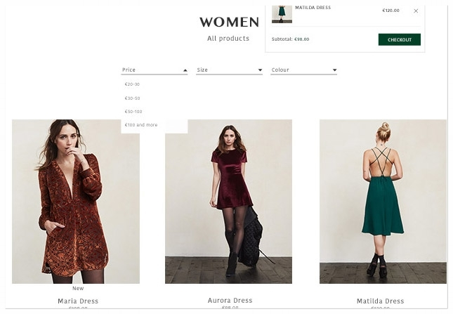 A design brief that provides a sophisticated online shopping experience for a socially progressive, environmentally conscious brand.