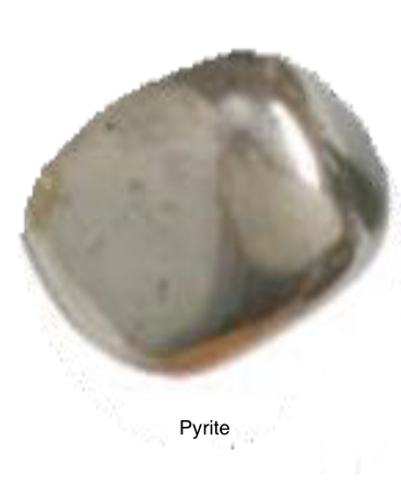 Pyrite - Comes from the Greek word Firestone. Was said to hold fire in its soul. Blocks out negative energy and pollutants at all levels. It creates a positive outlook. Helpful for men who feel inferior. Cubic Pyrite expands and structures mental capabilities balancing instinct with intuition.