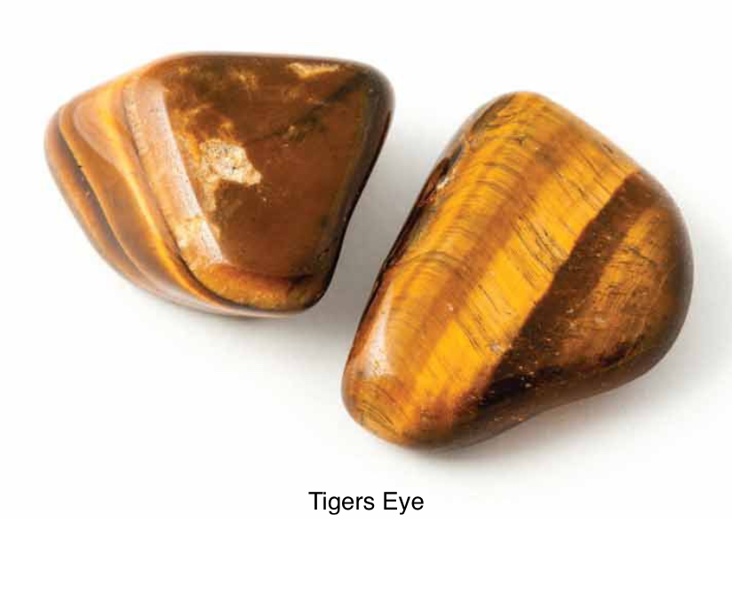 Tigers Eye - Protection stone. Heals mental disease and personality disorders. Helps with self-worth, self-criticism and opens creativity. Promotes addictive personality into change.