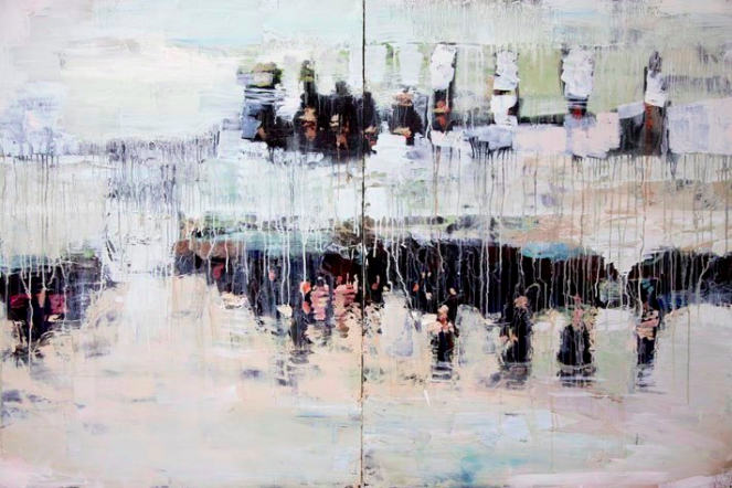 Flood  |  72 x 48 inches  |  Oil on Canvas