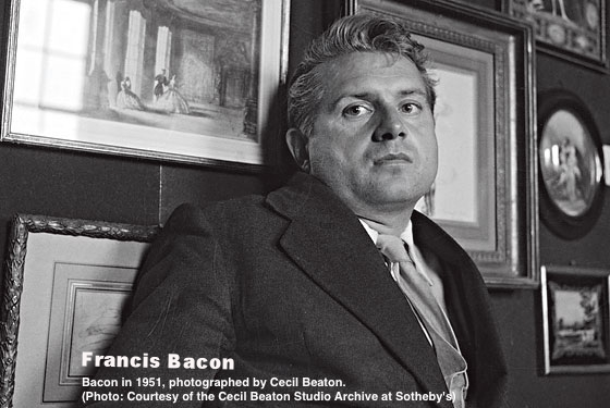 Bacon in 1951, photographed by Cecil Beaton.    (Photo: Courtesy of the Cecil Beaton Studio Archive at Sotheby's)