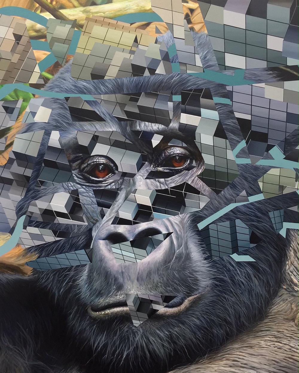 "Expiring #2  | 30"" x 24"" | Acrylic on panel | 2015"