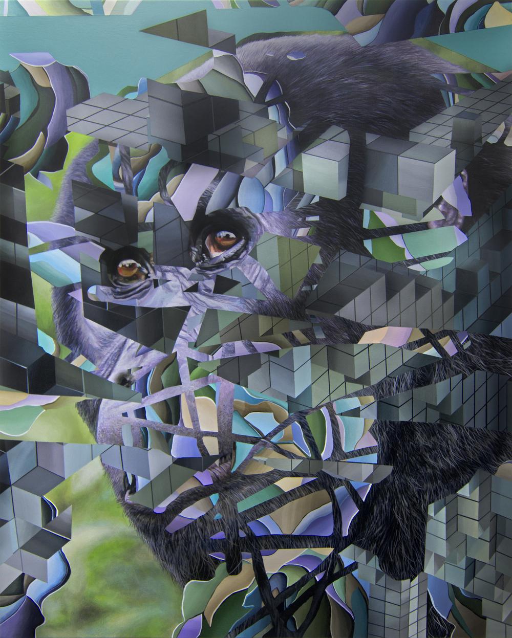 "Expiring #1 | 30"" x 24"" | Acrylic on panel | 2015"