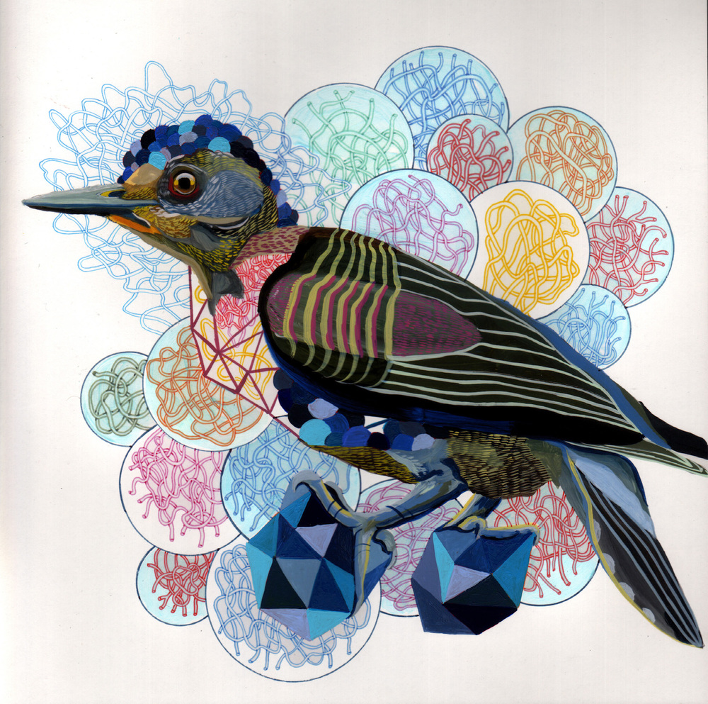 "Endangered Bird #115a   |  10"" x 10""  