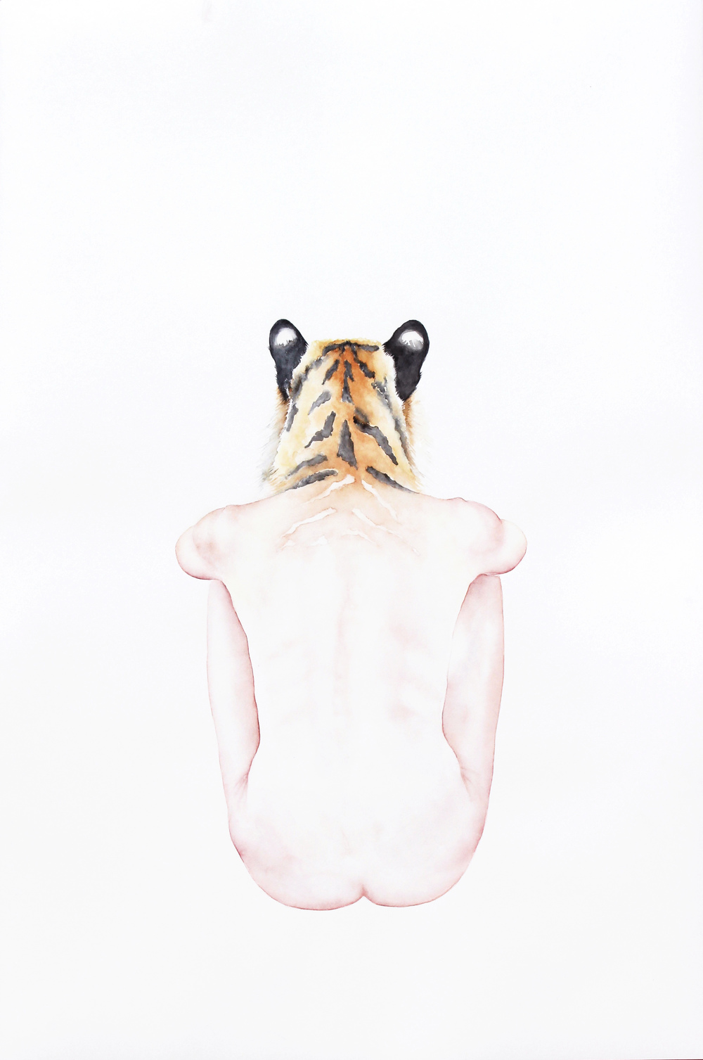 Tigress , 2016, Watercolor on paper, 26 1/4 × 18 in (66.7 × 45.7 cm)