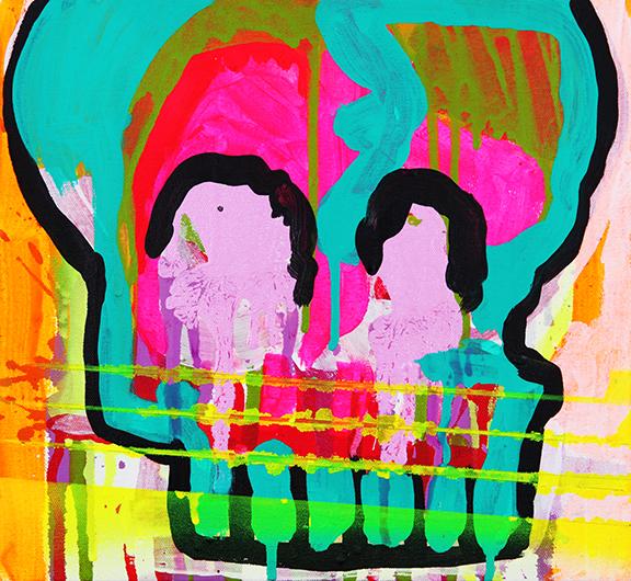 Hear No Evil , 2015 | Gesso &acrylic on canvas