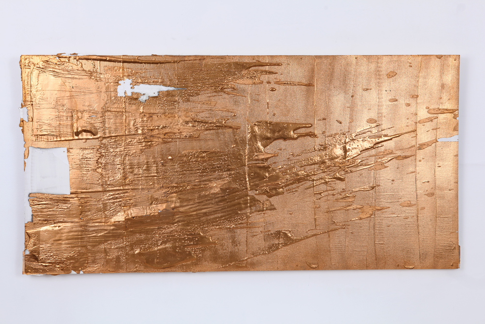 Gold #3 , 2015 | Plaster, gesso, acrylic on wood panel | 24x48