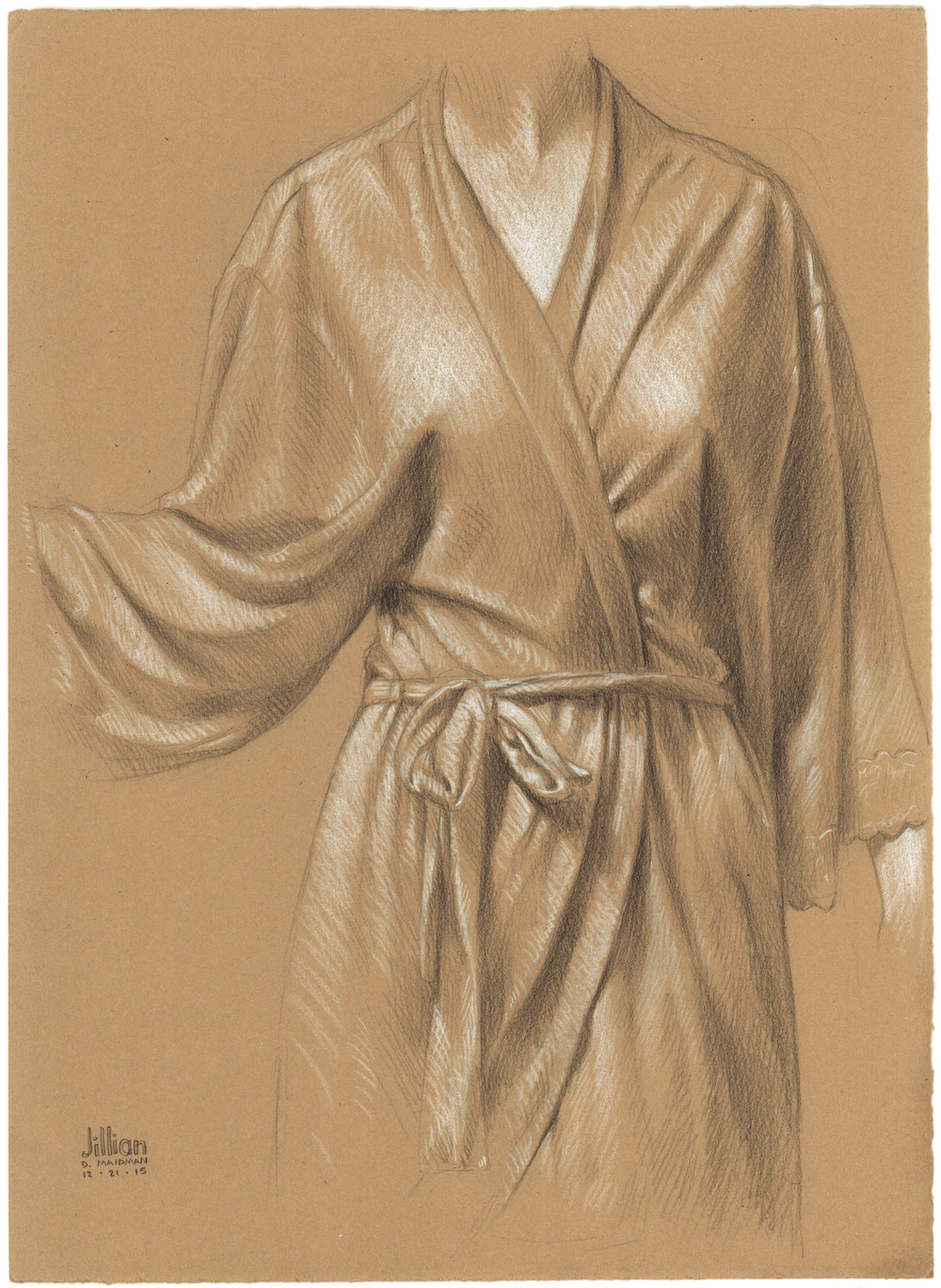 Jillian's Robe , 2015, Pencil on paper, 15 × 11 in