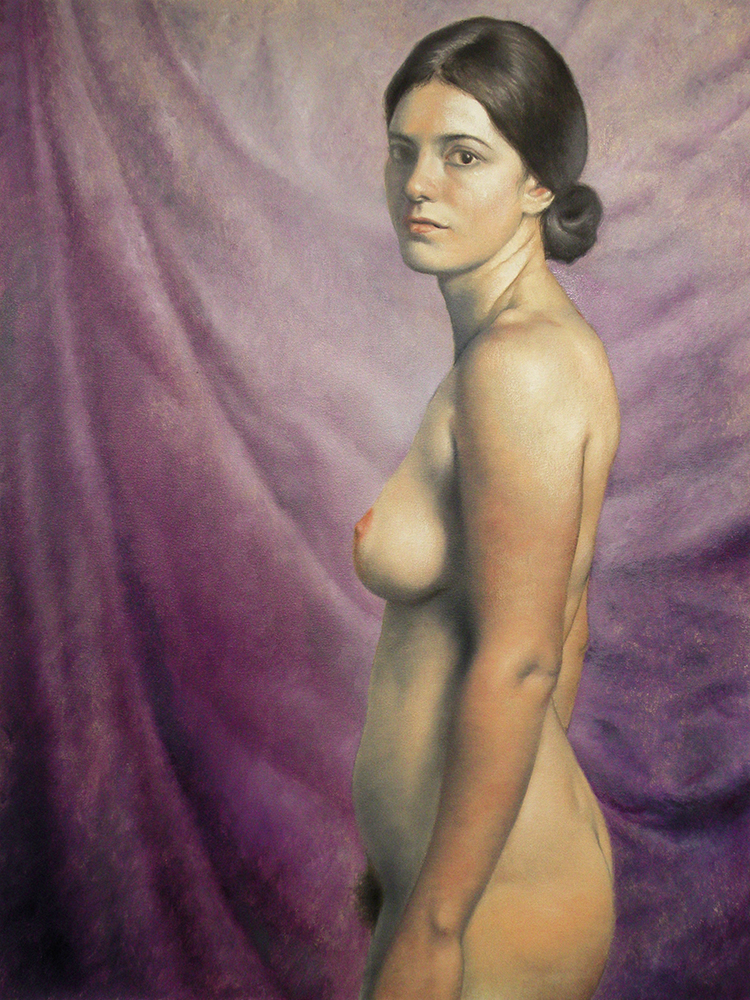 "Violet Portrait of Leah,  2016, Oil on canvas, 40""x30"""