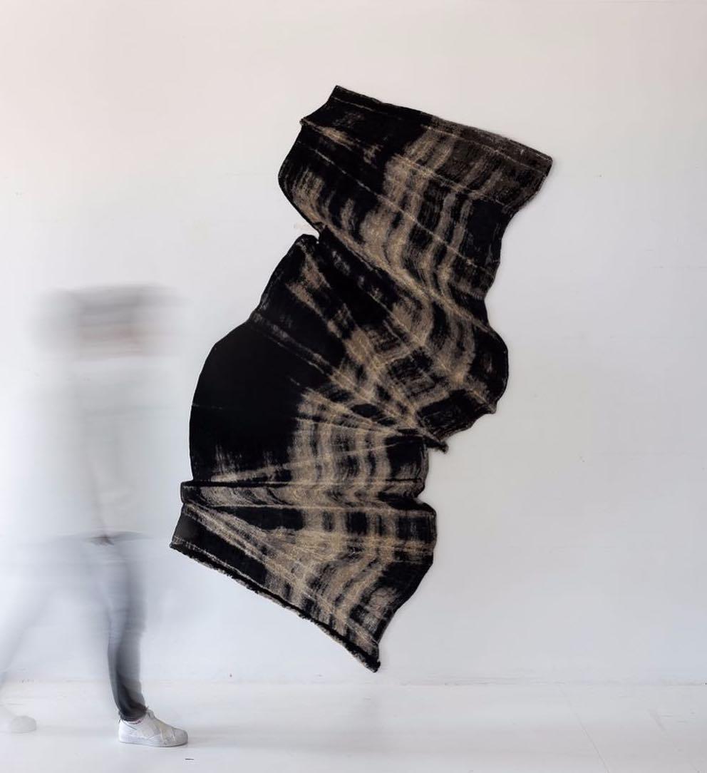 Miriam Cabessa,  Flying Carpet,  2018, Limited Edition Silk Rug, 100 x 66 inches
