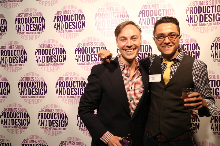 With an alumnus at the 25th Anniversary of the Production & Design Studio, Drama Department, NYU Tisch School of the Arts [Chris Andersson]
