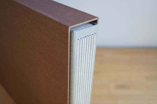 handmade album in slipcase
