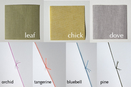 Bookcloth colors
