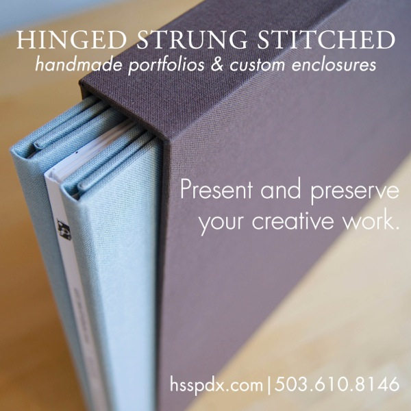 Handmade photography and design portfolio with slipcase.