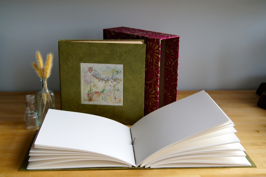 guest book and album set