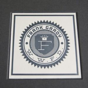 frank grady letterpress plaque