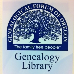 genealogical forum of oregon logo