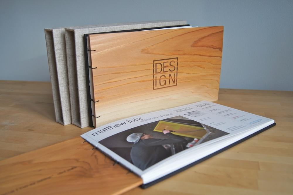 Portfolio with Cedar Cover Coptic Bound