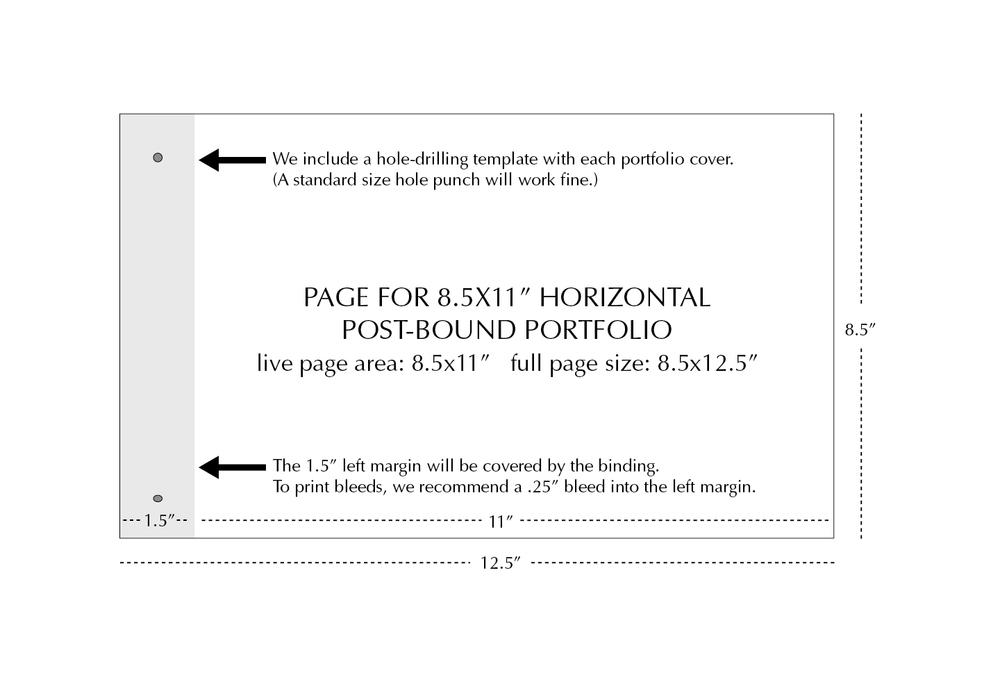 8.5x11 Horizontal Page