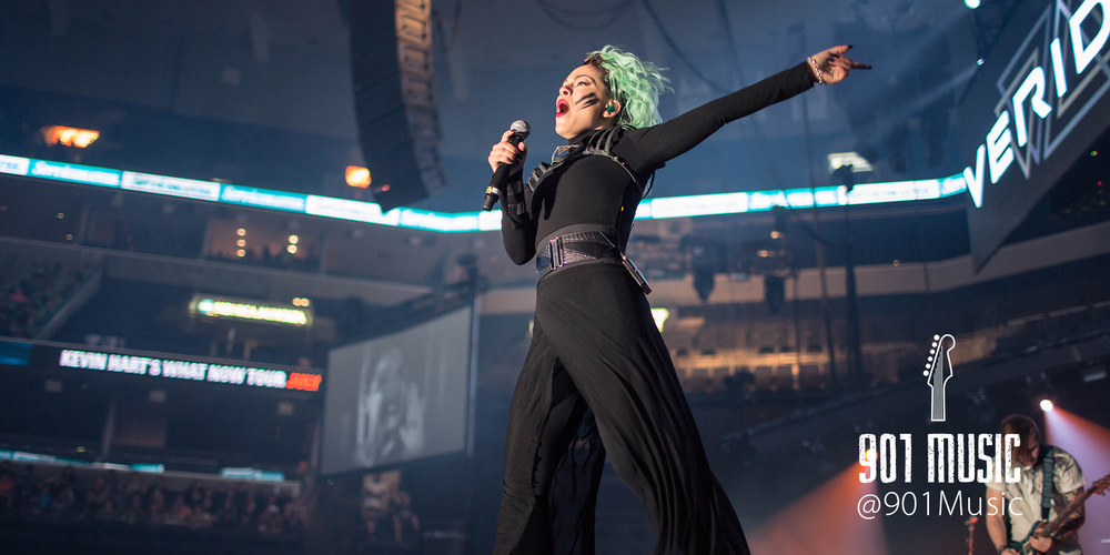 VERIDIA lead-singer, Deena Jakoub.  WinterJam Memphis 2015.   Photo:  @TimGSimpson