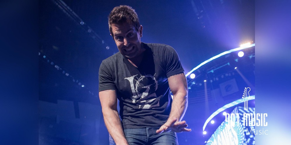 Jeremy Camp waving to Memphis.   WinterJam Memphis 2015.   Photo:  @TimGSimpson