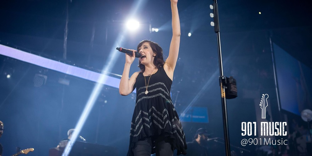 Francesca B  attistelli.   WinterJam Memphis 2015.     Photo:  @TimGSimpson