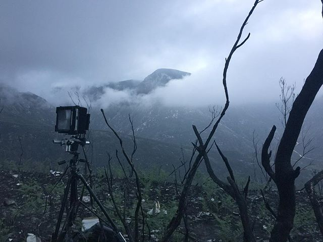 On location, Outeniqua mountains, South Africa.