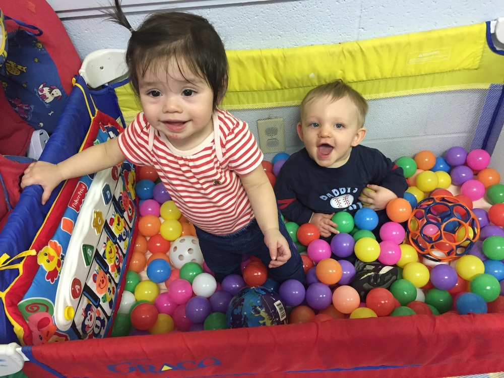 Little ones love the new sensory ball pit!