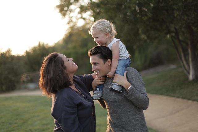 Rachel, Rachel and their son Wiley