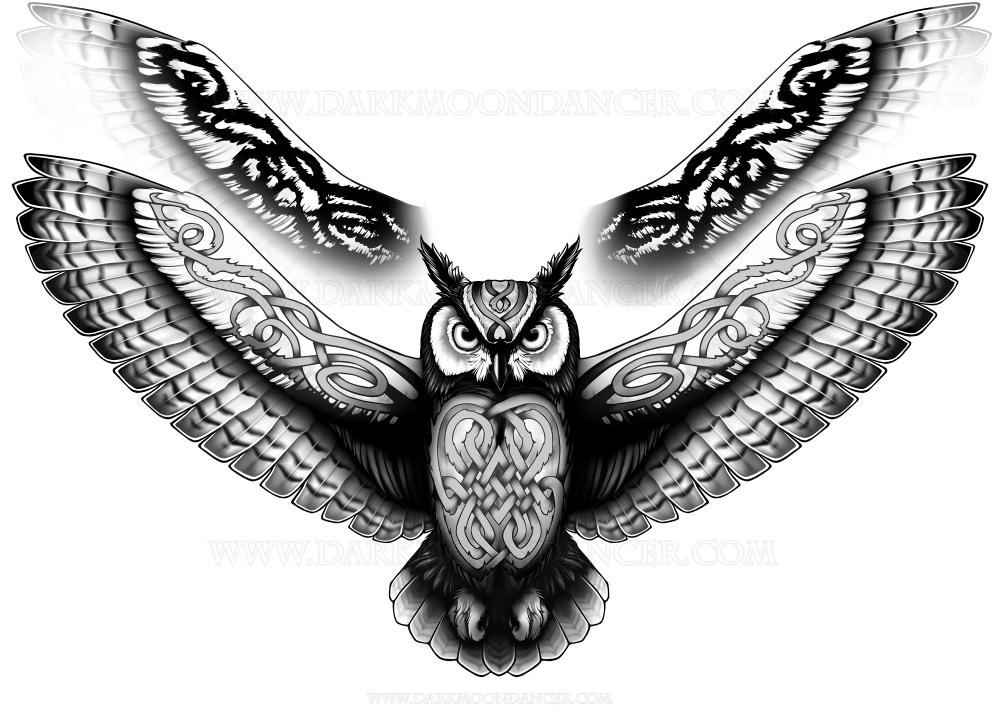 Brother Owl Tattoo Design — Darkmoon Dancer Designs