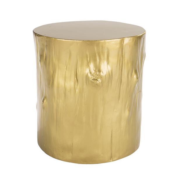 gold petrified wood table