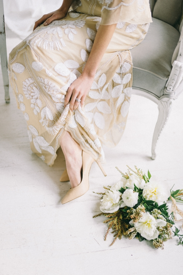 (photo by  Jaimee Morse , florals by  A Day in Provence , dress via  a&be Bridal Shop )